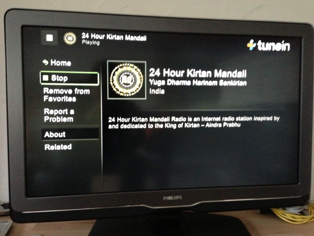 24 Hour Kirtan Mandali Radio on Boxee TuneIn App