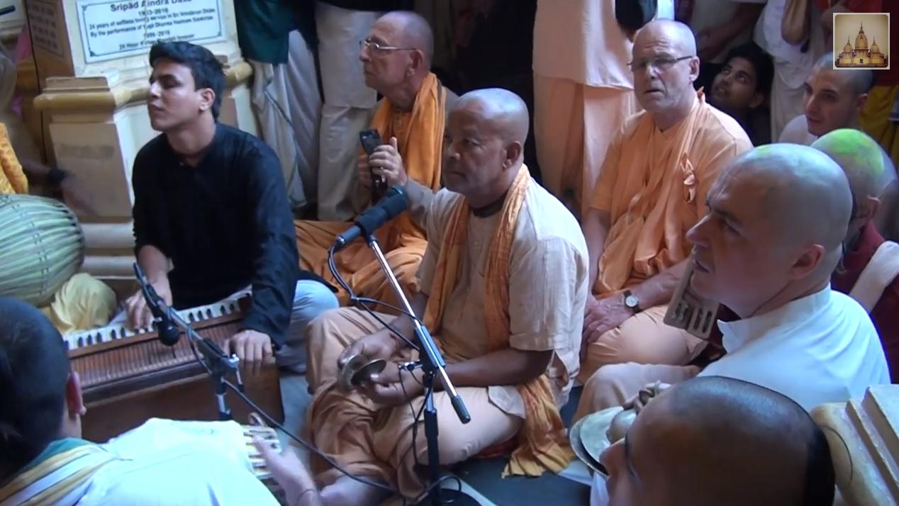 Agnidev Prabhu After Gaurapurnim Kirtan 2014