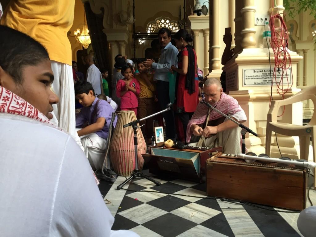 Radha Krpa preparing Kirtan recording