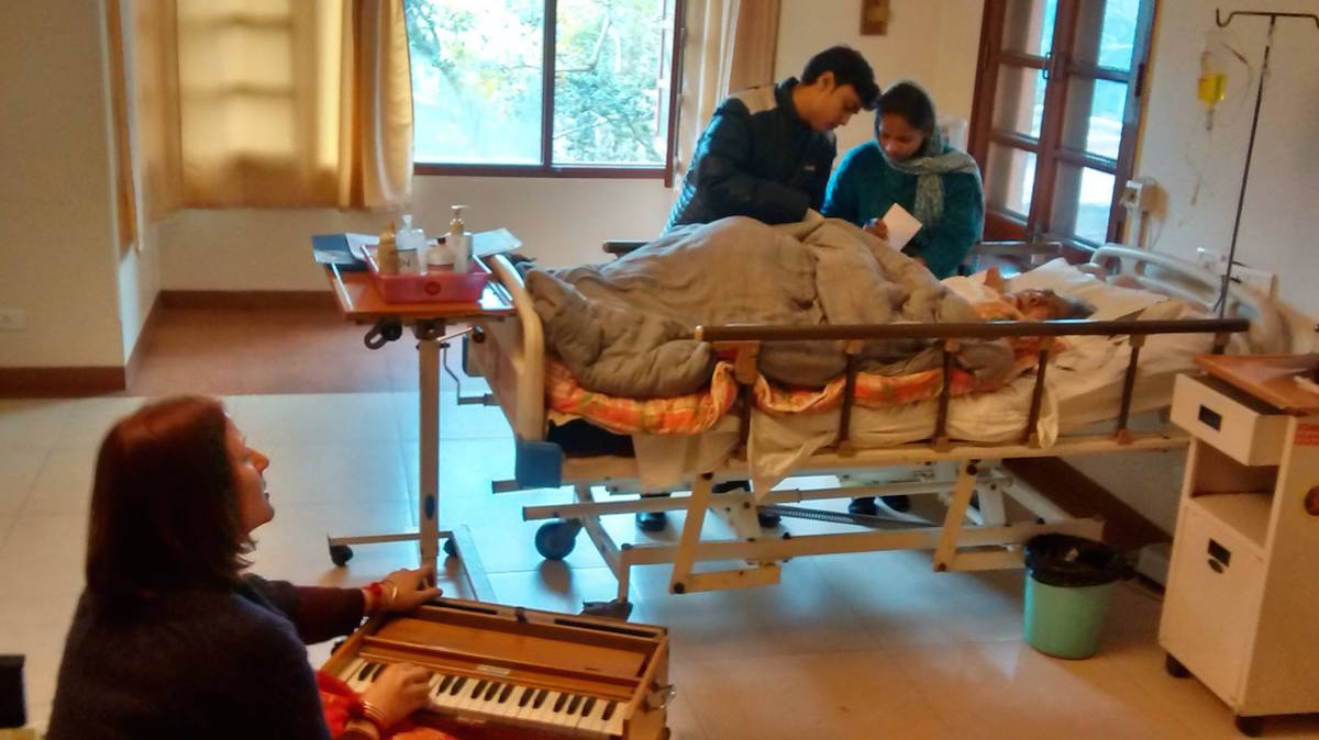 Sandesh at Bhaktivedanta Hospice