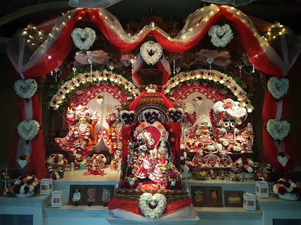 Altar of Sri Sri Gaura-Nitai, Jagannath Baladev Subadhra and Sri Sri Radha Gopinath